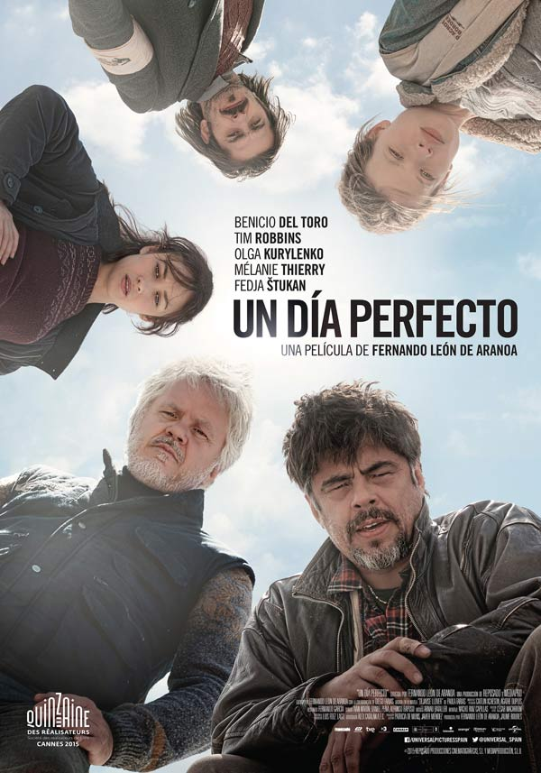 Cartel español de «Un día perfecto», película distribuida en España por Universal Pictures International Spain © 2015 Reposado y Mediapro. Todos los derechos reservados.