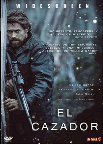 Cartel del lanzamiento en DVD y en castellano de «El último cazador» (2011). DVD release poster in Spanish of