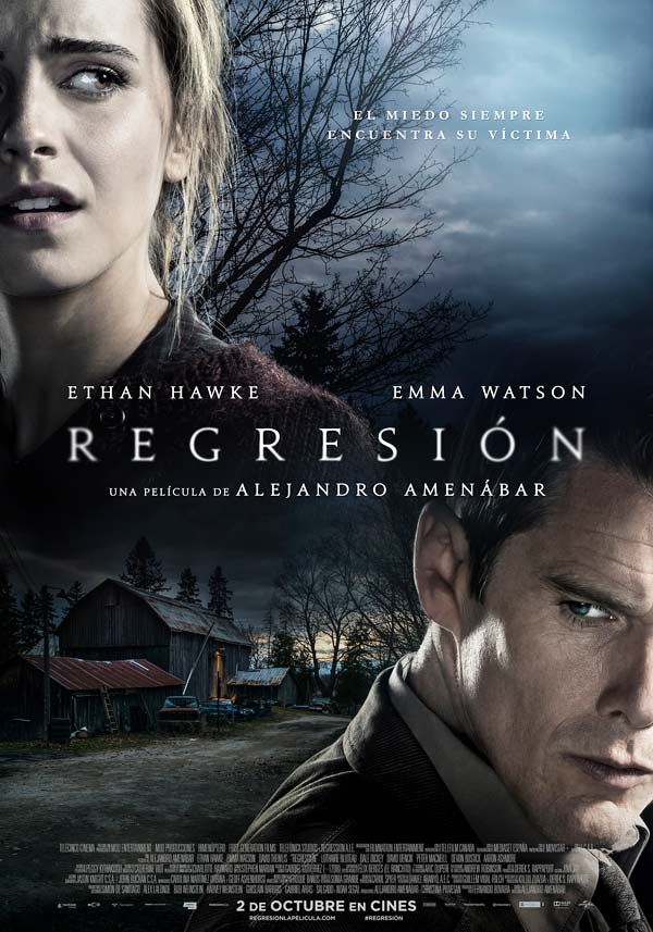 Cartel de «Regresión» © 2015 Himenóptero, MOD Producciones, First Generation Films y Telefónica Studios. Todos los derechos reservados.