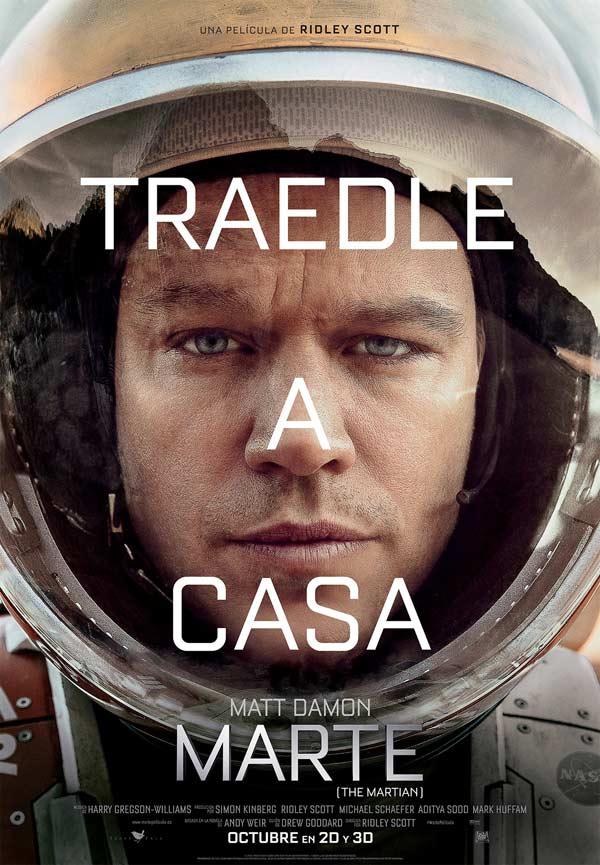 Cartel español de «Marte» © 2015 Twentieth Century Fox y Scott Free Productions. Todos los derechos reservados.